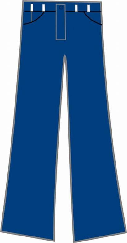 Jeans Pants Clip Clipart Denim Cartoon Trousers