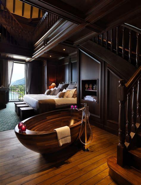 unique home interior design ideas exquisite wooden bathtub designs imprinting a unique room
