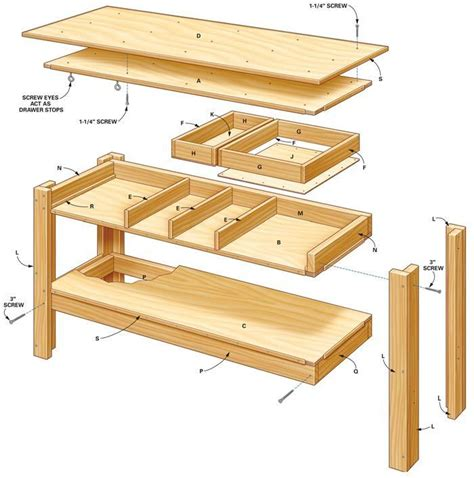 simple workbench plans garage simple workbench plans