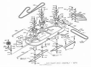Dixon Ztr 503  1993  Parts Diagram For Mower Deck Assembly