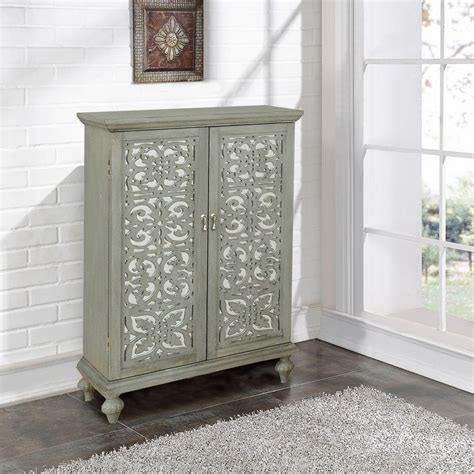 Pulaski Furniture Bar Cabinet by Pulaski Furniture 10 Bottle Gray Bar Cabinet Ds 766186