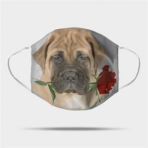 Funny Bullmastiff Rose Face Mask Gifts Bullmastiff Lover