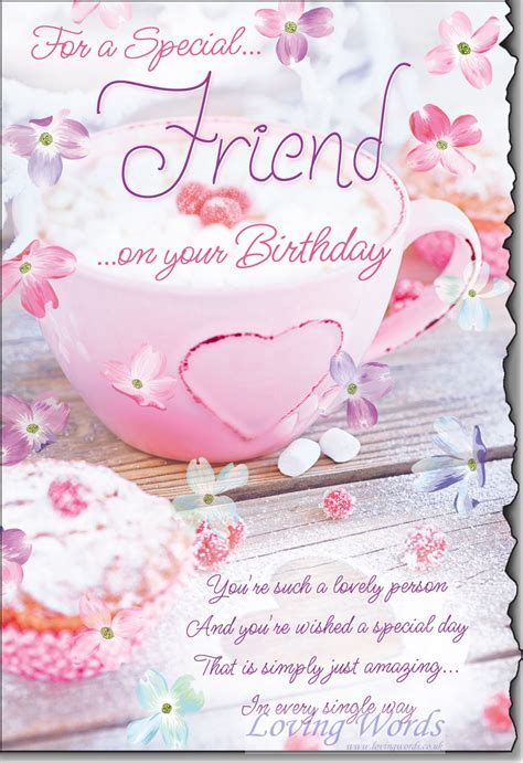 special friend birthday greeting cards  loving words
