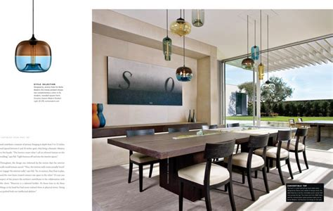 Niche Modern Lights Hanging Above A Dining Room Table At