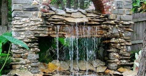 steinmauer mit wasserfall steinmauer mit wasserfall cascade of stones and water gardening outdoor alles zum thema