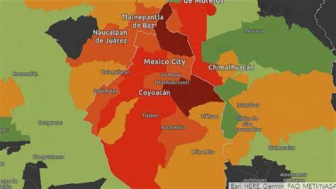 mapa  casos de coronavirus en ciudad de mexico por