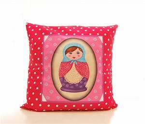 Coussin Boheme Chic : housse de coussin motif matriochka d coration esprit boh me chic textiles et tapis par ~ Melissatoandfro.com Idées de Décoration