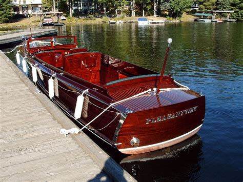 Wooden Boats For Sale In Michigan by Wooden Deck Launch For Sale Port Carling Boats