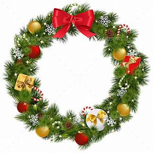 Vector Christmas Wreath with Garland by dashadima ...