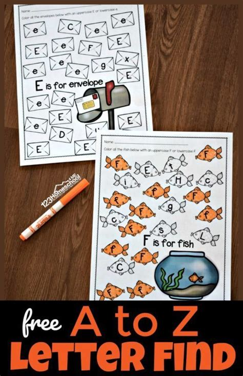 letter find  printable alphabet worksheets