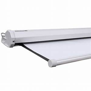 Manual Projector Screen Retractable Ceiling Mounted 72 In