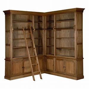 Bibliotheque Angle Ikea : biblioth que d 39 angle avec chelle en ch ne massif ~ Teatrodelosmanantiales.com Idées de Décoration