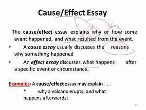 cause and effect essay sample pdf