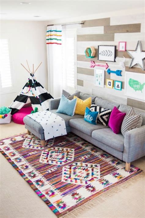 A Colorful Modern Home Designed With Usability In Mind by A Modern Take On A Colorful Playroom Playroom Toys