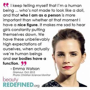 Emma-Watson- #B... Emma Watson Beauty Quotes