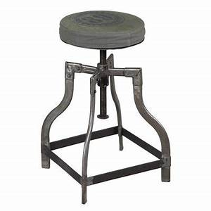 Tabouret A Vis : ensemble de 3 tables gigognes en acier vieilli atelier metal maison et styles ~ Teatrodelosmanantiales.com Idées de Décoration