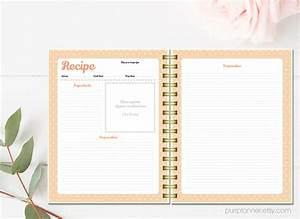 Printable recipe cards personalized recipe binder kit for Create your own cookbook template