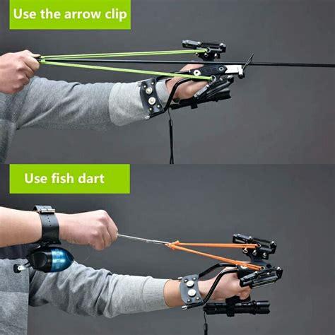 Shooting Arrow Laser Slingshot Black Hunting Bow Catapult