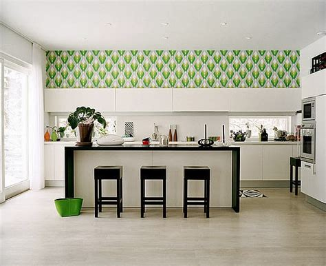 ideas for kitchen wall kitchen decorating ideas vinyl wallpaper for the kitchen