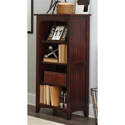 Alaterre Furniture Shaker Cottage Espresso Open Bookcase