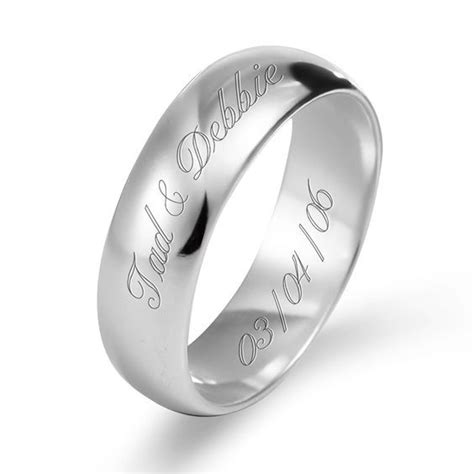 white gold band with name and date etched name engraved ring designs engraved wedding rings