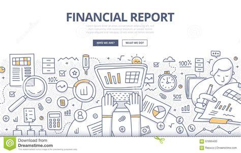 Financial Report Doodle Concept Stock Vector