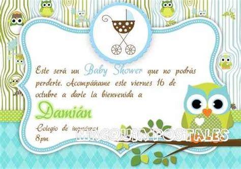 Invitaciónes baby shower buhos niño Imagui ideas para