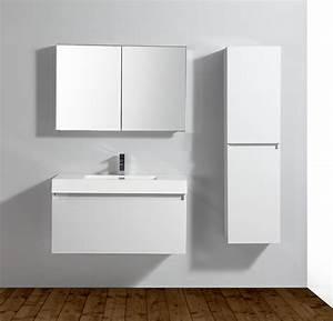 Meuble Mural Salle De Bain : bernstein de luxe meuble de salle de bain a 1000 blanc lavabo meuble mural ebay ~ Teatrodelosmanantiales.com Idées de Décoration