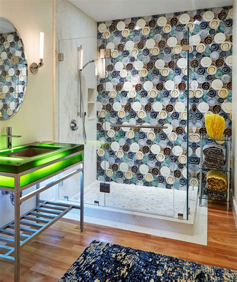 artistic tile bathrooms