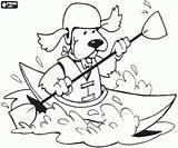 Kayak Coloring Dog Pages Water Sports Printable Oncoloring Kayaking Canoeing Disney Printables sketch template