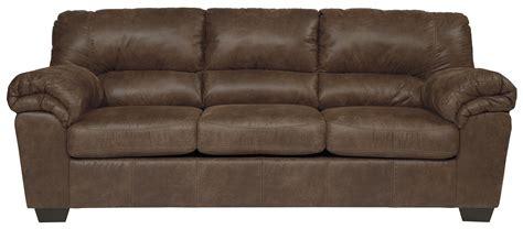 casual faux leather sofa  signature design  ashley