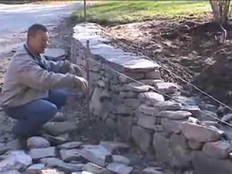 build   england fieldstone wall  david