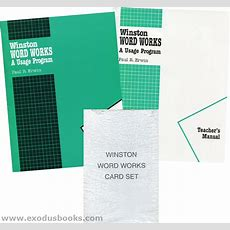 Winston Grammar Word Works  Set  Exodus Books