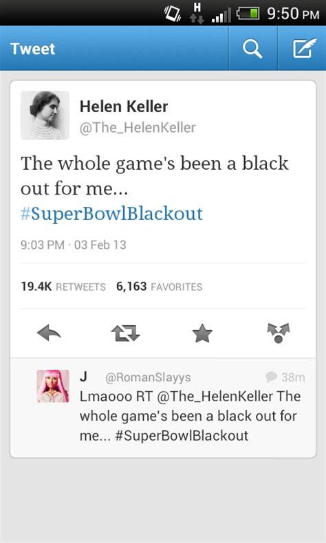 helen keller   superbowl twitter