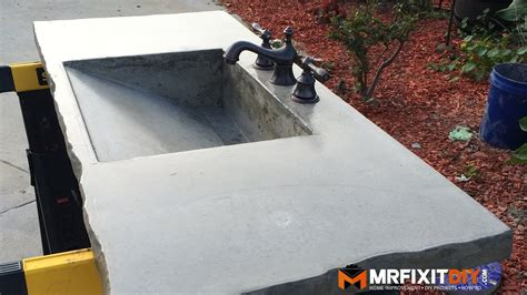 Diy Concrete Sink (part Of )-youtube