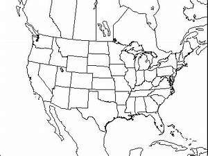 Black And White Map Of Us Canada Php. Black. USA Map Images