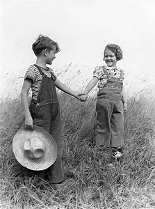 Farm Kids Holding Hands, C.1930-40s Photograph by H ...