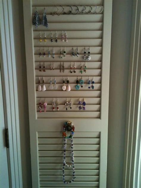 louvered door   hooks  necklaces  cute knobs