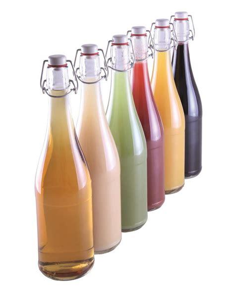 recettes de cuisine gratuite bouteille de limonade transparente 75 cl avec bouchon mécanique par 6 tom press