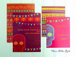 pin by whoa nellie press on day of dead wedding pinterest With traditional mexican wedding invitations