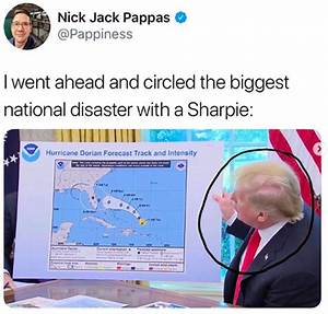 43 Funny 'Sharpie Gate' Memes In Response To Trump Showing A Fake Hurricane Map Altered With A ...