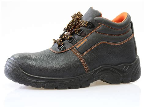 Fob .90 Per Pair Genuine Leather Pu Sole Cheap Safety Shoes