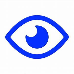 Eye, opened, public, visible, watch icon | Icon search engine