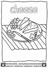 Cheese Coloring Pages Printable Printables Plate Sheets Books Colouring Blank Pizza Getcoloringpages Lucy Painting Macaroni Mac Colorear Para Activities Mouse sketch template