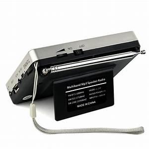 Retekess Portable Fm  Am  Sw Radio Tuning Mp3 Player