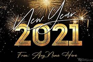 New Year's Eve 2021 Card With My Name Edit Free Download