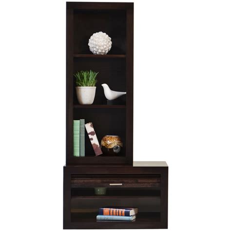 End Table Bookcase by Floating End Table Bookcase Eco Geo Espresso Woodwaves