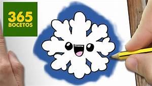 COMO DIBUJAR UN COPO DE NIEVE PARA NAVIDAD PASO A PASO: Dibujos kawaii navideños draw a snowflake