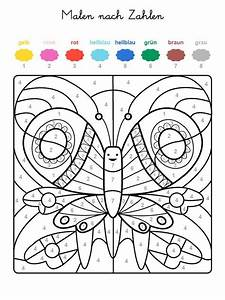 Kostenlose Malvorlage Malen Nach Zahlen Schmetterling