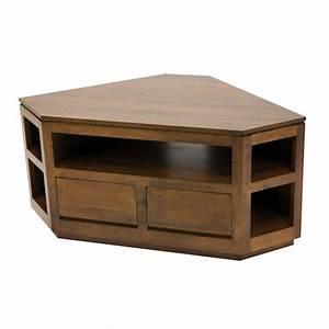 Meuble D Angle Salon : meuble tv d 39 angle en h v a massif salon contemporain fjord ~ Teatrodelosmanantiales.com Idées de Décoration
